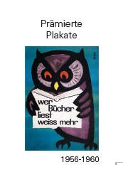 Awarded poster 1956-1960Prämierte Plakate 1956-1960