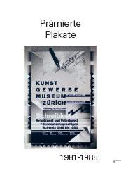 Awarded poster 1981-1985Prämierte Plakate 1981-1985