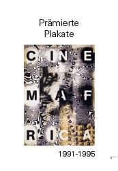 Awarded poster 1991-1995Prämierte Plakate 1991-1995
