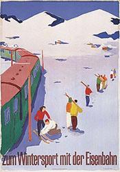Jegerlehner Hans - zum Wintersport mit der Eisenbahn