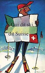 Monnerat Pierre - Qui dit ski, dit suisse