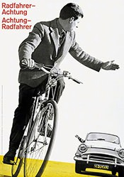 Müller-Brockmann Josef - Radfahrer-Achtung