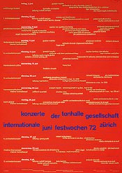 Müller-Brockmann Josef - Konzerte der Tonhalle Gesellschaft