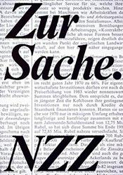 Bühler Willi / Keller Peter - Zur Sache.