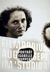 Schraivogel Ralph - Portrait Isabelle Huppert